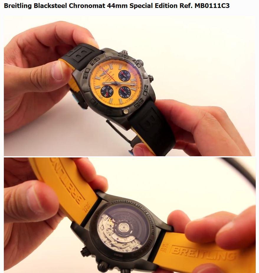 Breitling Chronomat Blacksteel Yellow.JPG