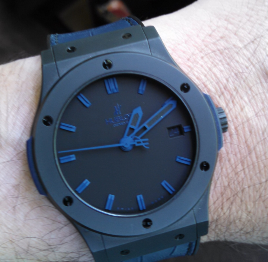 Hublot all blue.