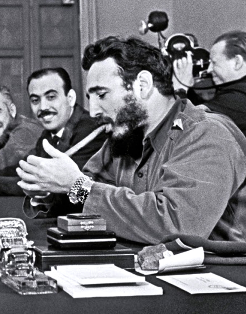 Khruschev-with-Fidel-Castro-Rolex-Day-Date-and-Submariner-Close.jpg