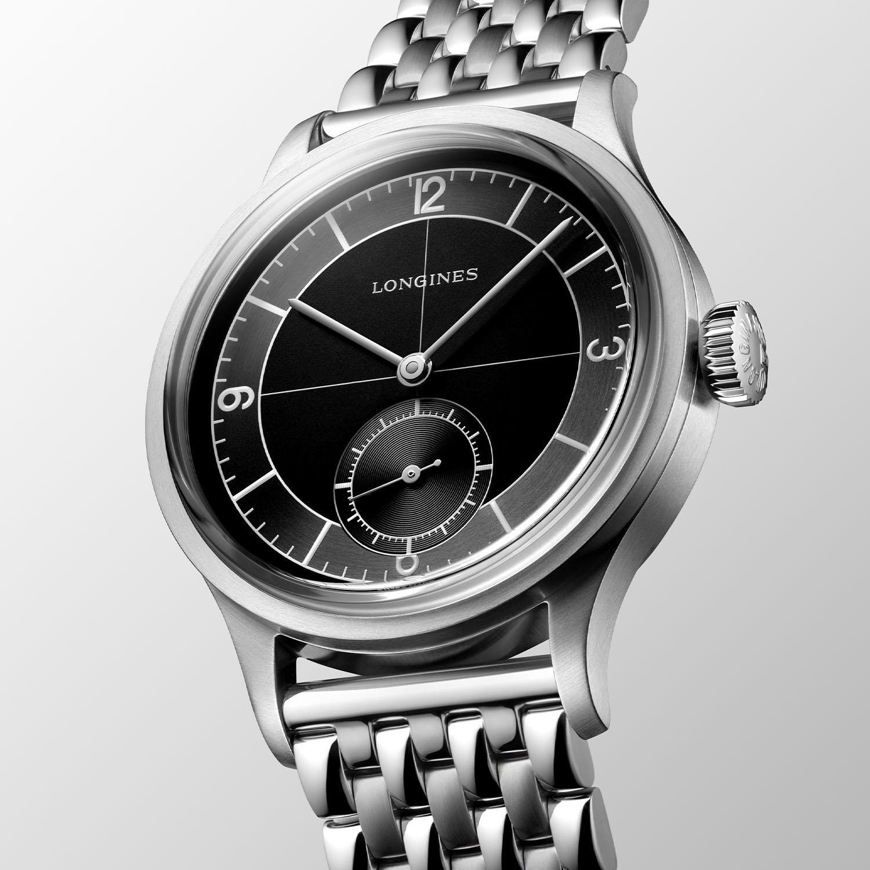 Longines-Heritage-Classic-Black-Sector-dial-beads-of-rice-bracelet-L2.828.4.53.6-4.jpg