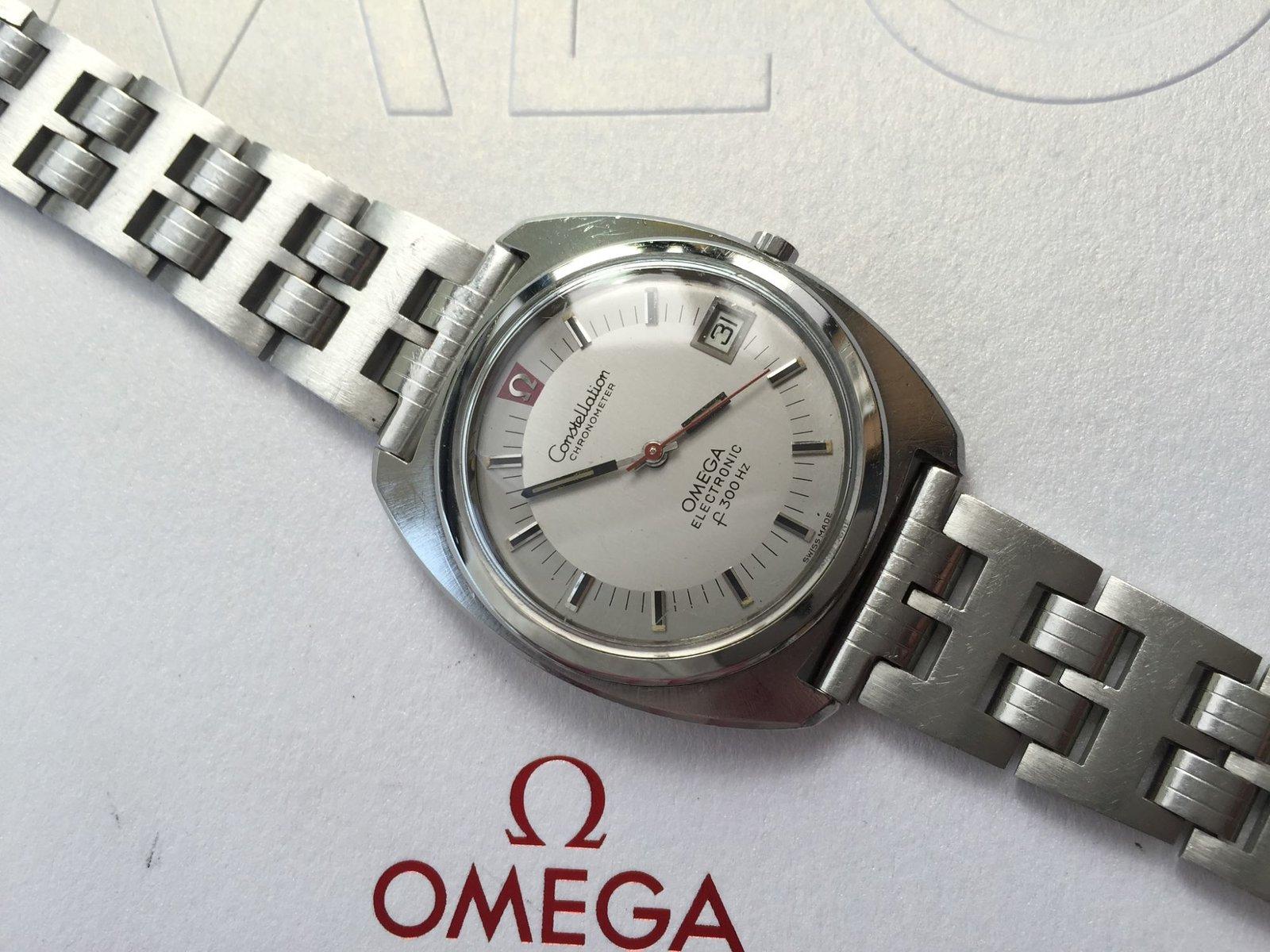 Omega constellatin chronometer 1976, framsida.jpg