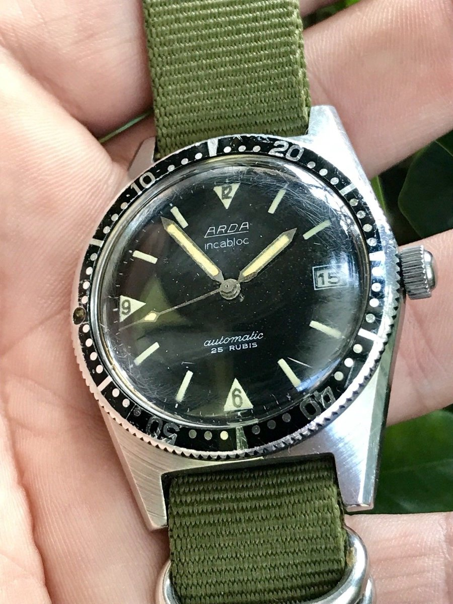 Rare-vintage-Jumbo-skin-Diver-Arda-watch-38mm.