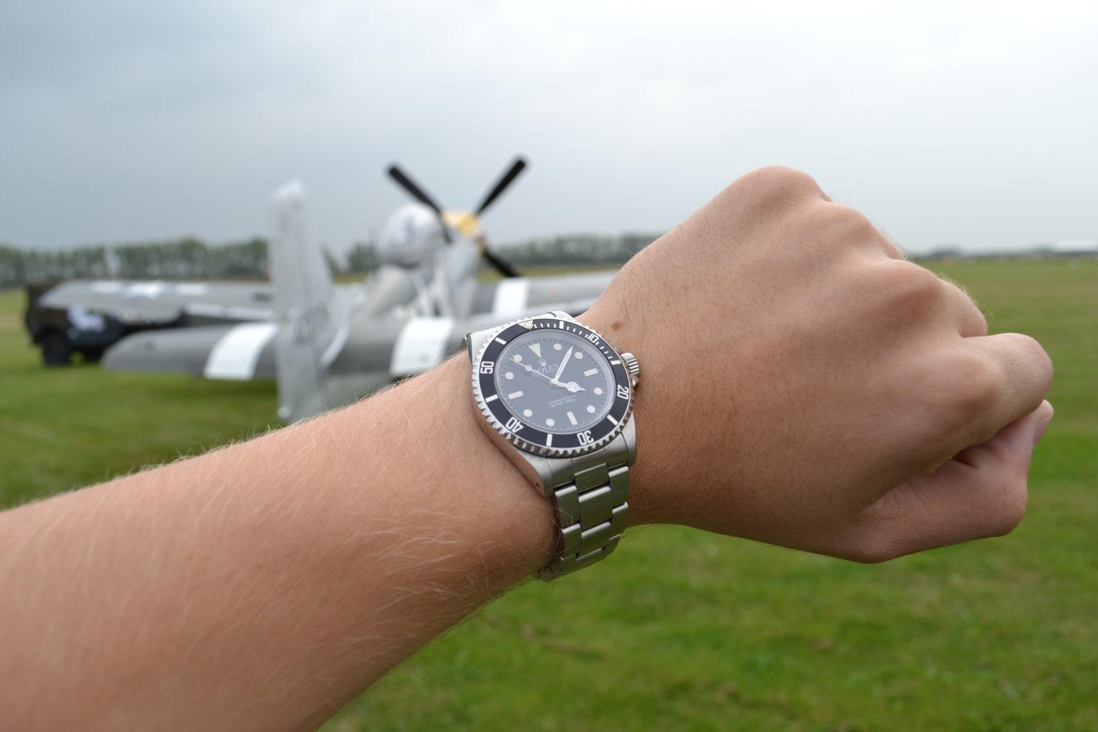 Wristshot Rolex P-51 Mustang.JPG